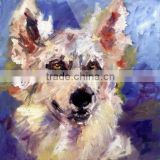 Lowest Prcie Best Quality Dafen Big Wholesale Artists Hand Painted Abstract Wolf Oil Painting on Canvas for Home Decoration