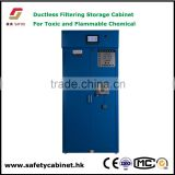 Mobile Filtered Storage Cabinet on wheels for laboratory Flammable & corrosive Chemicals