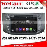 Wecaro WC-NU8053 Android 4.4.4 car multimedia system double din for nissan sylphy car radio gps audio system 16GB Flash