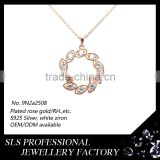 2015 christmas new hot items for prong setting ladies neckalce in natural stones rhinestone chain layer necklace