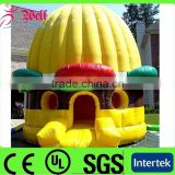 Most popular cheap inflatable castle / inflatable hanburger bouncer / kids jumping castle
