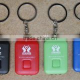 Small torches lights emergency plastic keychain mini solar led flashlights with customer logo