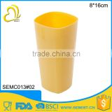 custom logo reusable 8*16 melamine square party cups