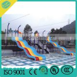 water park equipment, colorful water double slides,outdoor water park playground