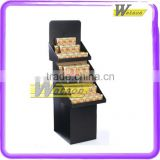Removeable Floor cardboard pallet display standing paperboard display stand shelf