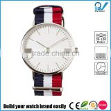 Stainless steel case japan movement slim line case 3ATM hot selling water resistant nato watch
