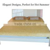 luxury handmade cooling bamboo kantha quilt bed cover