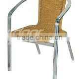 Alibaba Outdoor Furniture Miniature Garden Furniture Stackable Rattan Chair(DH-L10)