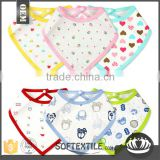 wholesale promotional soft cotton cheap triangle bandana Baby Bibs                                                                                         Most Popular