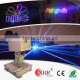 XHR rgb aniamtion supper building laser landmark,text/logo/effect sky laser light projector