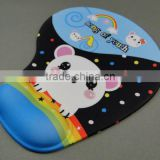 Silk Screen Printed Rubber mouse pad, decorative rubber mouse mat