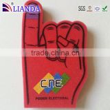 Eco- friendly pu foam finger hand with stick,foam cheering finger sponge,most Popular foam hand wavers