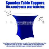 colorful Spandex table top covers /Elastic Rectangular 6' Banquet Table Top/cocktail bar nylon cover