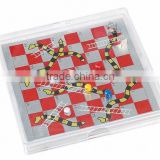 mini travel popular magnetic snake chess in plastic casing