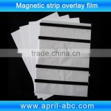 Coated overlay film with color hico magnetic stripe laminated with inkjet pvc sheet A4 size plastic pvc sheet