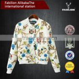 Popular cartoon pattern ladies short paragraph slim fit baseball uniform jacket for wholesale fitness apparel