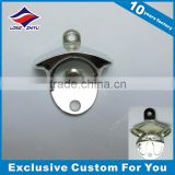 Ready made mould zinc alloy metal wall mounted bottle opener with shiny chrome plating                                                                                                         Supplier's Choice