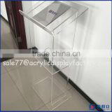 Transparent acrylic speech stan display floor standing,acrylic lectern podium for church or meeting room