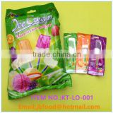 10g light up lollipop candy with ice cream shape in bag packing