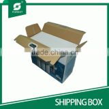 LITHO PRINTED CORRUGATED SHIIPPING BOXES FOR MOVING WITH PLASTIC HANDLE