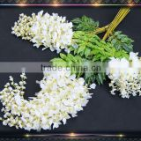 party hall decoration white wisteria plant