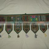 Traditional Old Textiles Patchwork Decorative Khambadia Vallance Door Hangings~Source directly from factory in INDIA