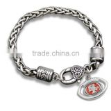 Hot Alloy NFL Charms Bracelet Antique Sliver San Francisco 49ers Football Charm Bracelet