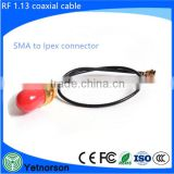 Straight SMA Female to I-Pex for RF Coaxial Cable SMA female bulkhead connector to u.fl ipex connector RF Coaxial cable assembly