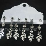 body piercing jewelry bananabell with stones navel bell with charm