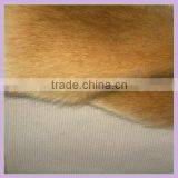 100% Acrylic Raccon shinning faux fur wholesale fabric brown high density super soft boa plush china supplier