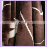 brown and white 7MM short pile 100% acrylic jacquard carpet rug fleece fabric faux fur plush home decor raw material blanket