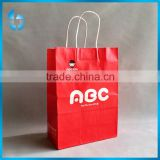Lovely red paper bag for kids apparel and gifts