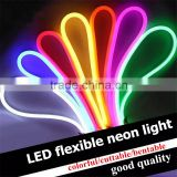 KEEN 220V custom IP68 colorful flexible led neon light outdoor ultra-thin led neon flex tube rope light for holiday decoration