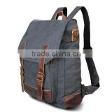 The Designers Fashion Single Strap Mutil Function Vintage PU Leather Tote Style Men Canvas Backpack