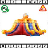 giant top quality commercial used hot fun inflatable double lane octopus slide inflatable for sale