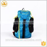 Blue black yellow rope travel bag OEM service large compartment oxfod backpack for children