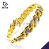 China Manufacturer 2015 latest stainless steel amber stone bracelet