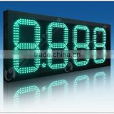 custom design led 7-segment any inch time\/date\/temperature signs, red color led digital clock red display sings