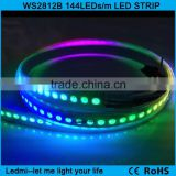 144 led strip ws2812 ws2812b black/white pcb smart rgb led pixel strip                                                                         Quality Choice