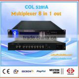 COL5281A two ts output multiplexer,hdmi video asi multiplexer, asi to ts multiplexer 8 channels