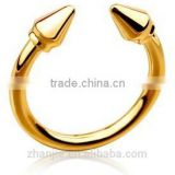 Fashion gold plated jewelry gold 2014 latest designs online buying ladies finger plated gold ring