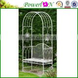 Cheap Beautiful Design Wrough Iron Patio Arch Bench Garden Furniture For Outdoor J09M TS05 G00 X11B PL08-5595