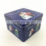 14.5*14.5*9.3CM Factory directly sales high quality Low price rectangular gift tin box ,metal tin box