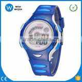 DLW003/ Hot sale digital quartz sport watches wristwatches children kid diving rubber band fashion white outdoor LCD hand Clock