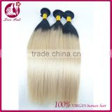 7A Unprocessed virgin malaysian two tone human hair weave bundles no shed no tangle for white women