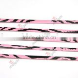 Red and Black Zebra PU Leather Bracelet, 8mm Leather Bracelet Hot Selling Charms Bracelet