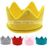 5 colors Baby Crown Cap Newborn Hat Handmade Crochet Headband For baby Photography Beanies