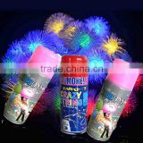 Factory wholesale silly string, party string spray , color party string