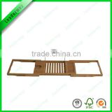 2016 cheap expandable bamboo display shelf bamboo wall shelf