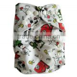 2016 Naughty Baby New Arrival Print Wholesale Polyester AIO Modern Cloth Diaper
